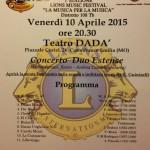 10 aprile 2015 - Concerto Lions Club
